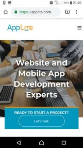 Mobile site screenshot - applite.com